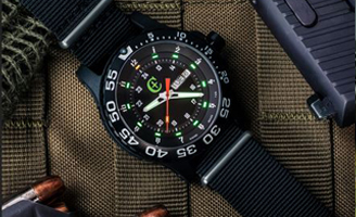 Tritium illuminated watch dials